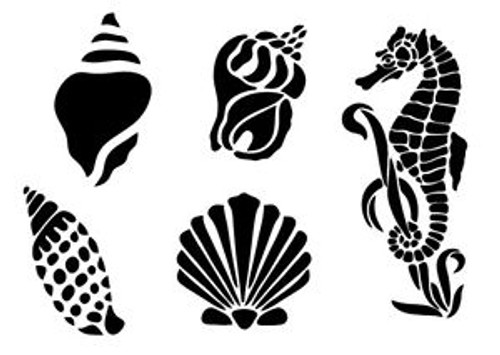 Reusable Stencils, Seashells, Sea Horses, Nautical