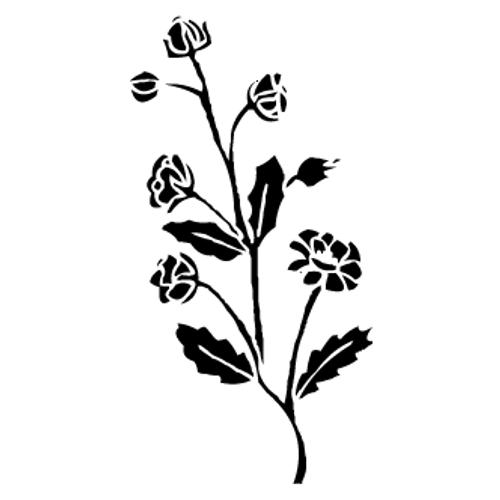 Reusable Stencils, Roses, Rose on Stem