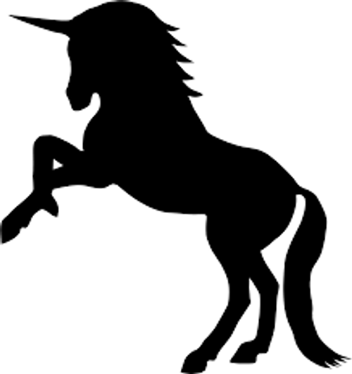 Reusable Stencils, Unicorns, Fantasy, Magical Flying Unicorn