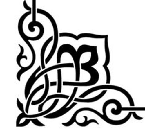 Reusable Stencils, French Baroque Flourishes, Corners, Border Designs