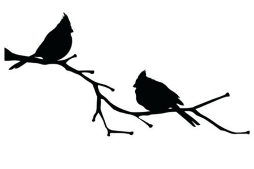 Reusable Stencils, Cardinals, Birds on Branches