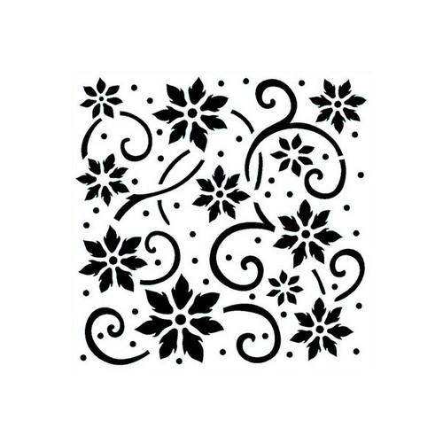 Reusable Stencils, Flowers, Stars, Backgrounds