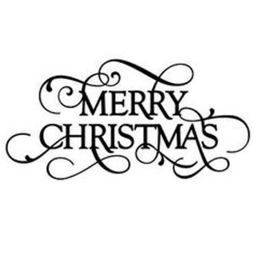 "Reusable Stencils, ""Merry Christmas"" Greeting, Xmas Holiday Decor Signs"