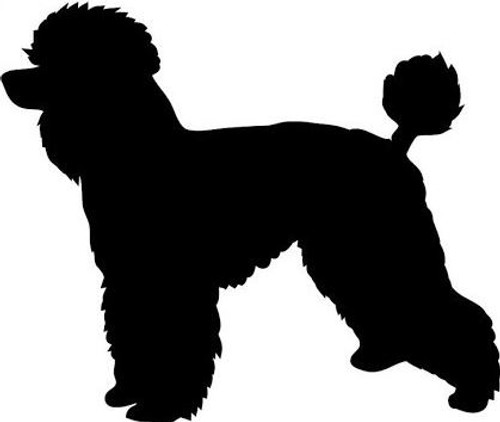 Reusable Stencils, French Poodles