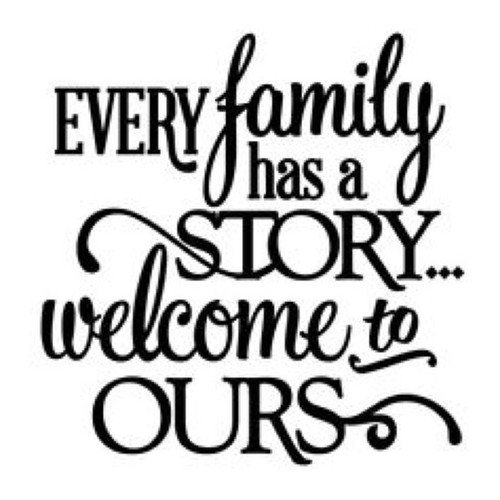 "Reusable Stencils, ""Family Story"" Signage, Signs"