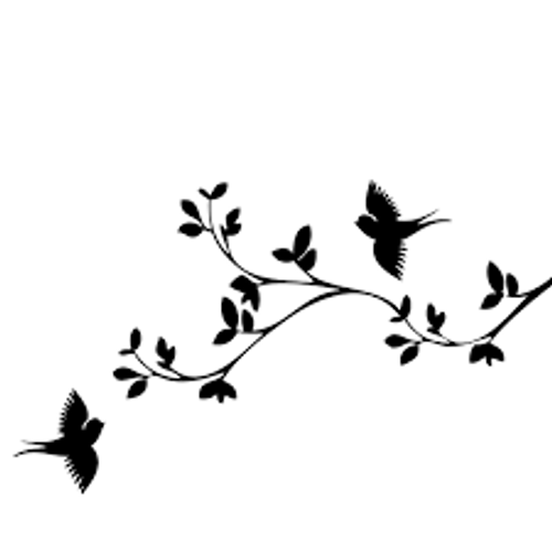 Reusable Stencils, Birds, SpArrows, Leafy Branches