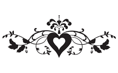 Reusable Stencils, Flourishes, Hearts