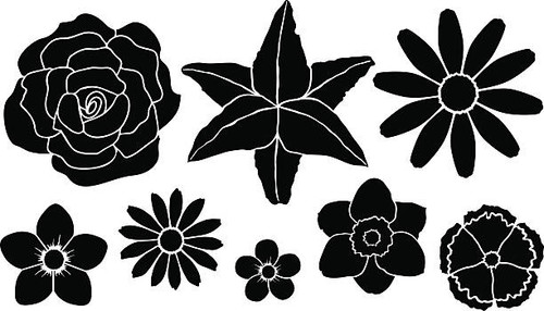 Reusable Stencils, Flowers, Florals, Blooms
