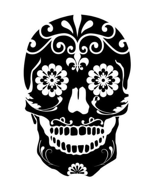 Reusable Stencils, Dia de Los Muertos Skull