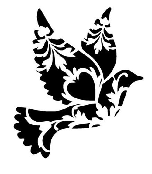 Reusable Stencils, Doves, Love Birds