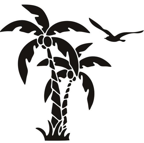 Reusable Stencils, Tropical Palm Tree Fronds, Beach Plants