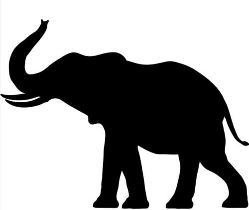 Reusable Stencils, Elephants, Wild Animals