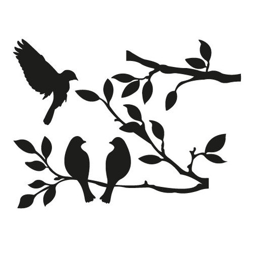 Reusable Stencils, Birds, Tree Branches