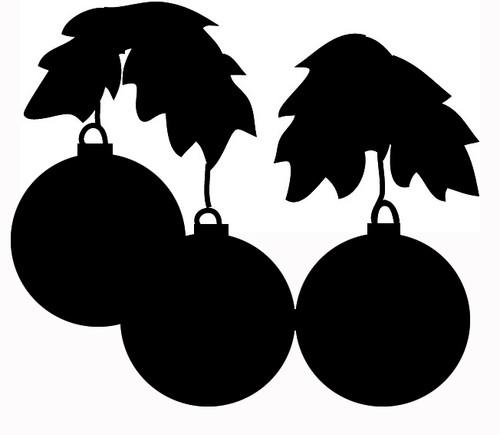 Reusable Stencils, Christmas Bulbs, Xmas Holiday Decor