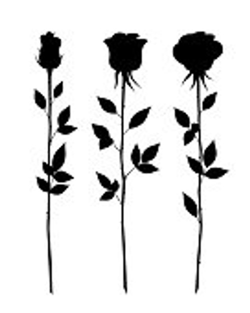 Reusable Stencils, Long-Stemmed Roses