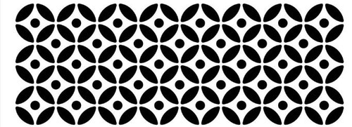 Reusable Stencils, Repeat Pattern of Circles and Dots