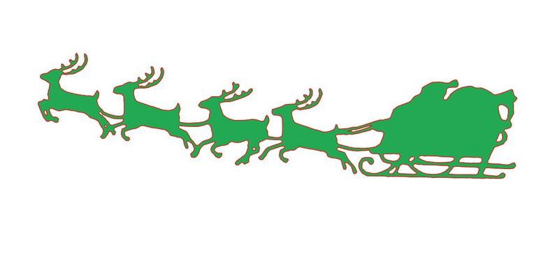 Reindeer Stencil Reusable Stencils of Reindeer in Multiple Sizes