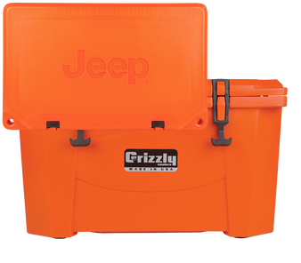 4x4 Attitude Cooler 40 Quart Ice Chest Hard-Sided JEEP EDITION - Orange front