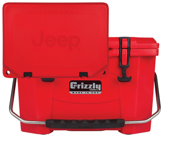 Jeep Attitude Cooler 20 Quart Ice Chest Hard-Sided JEEP EDITION - red front