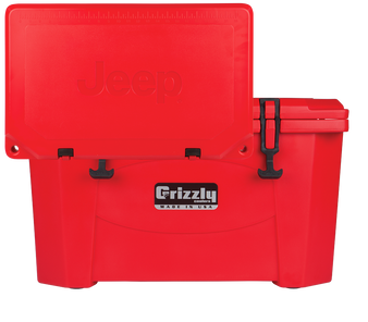 Jeep Attitude Cooler 40 Quart Ice Chest Hard-Sided JEEP EDITION - red front