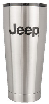 4x4 Attitude Cup Tumbler Thermo 20oz JEEP LICENSED Etched Logo - brushed stainless steel
