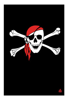 Pirate Red Bandanna - Shade Soft top Wrangler Jeep Full