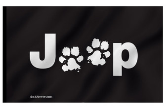 Paws Jeep - Multiple Designs - Flags