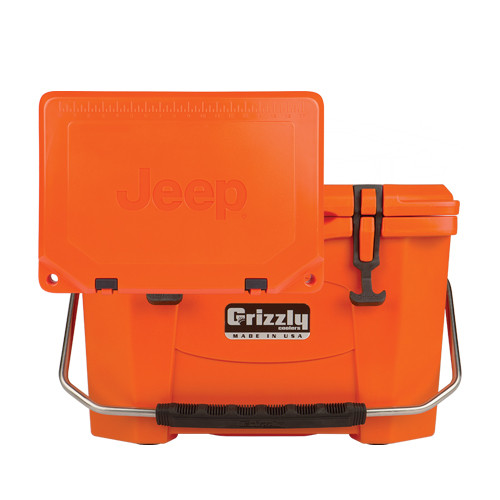 Jeep Attitude, Grizzly Coolers,orange