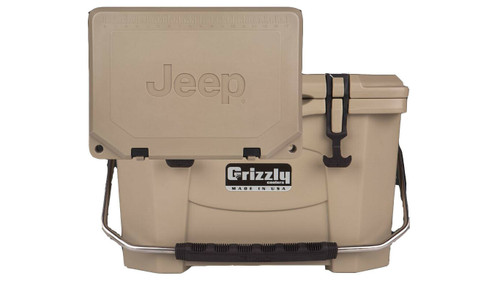 Jeep Attitude Cooler 20 Quart Ice Chest Hard-Sided JEEP EDITION - tan front