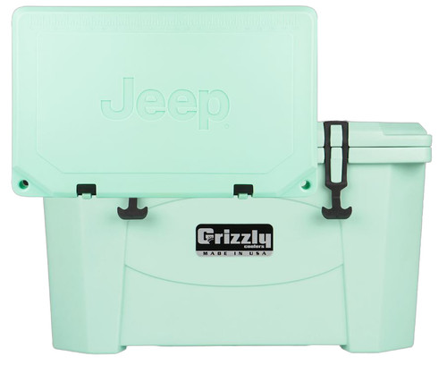 Jeep Attitude Cooler 40 Quart Ice Chest Hard-Sided JEEP EDITION - seafoam front