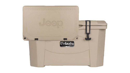 Jeep Attitude Cooler 40 Quart Ice Chest Hard-Sided JEEP EDITION  - Tan front