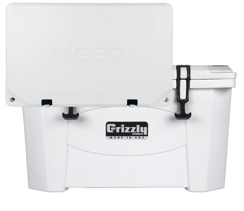 Jeep Attitude Cooler 40 Quart Ice Chest Hard-Sided JEEP EDITION - white front
