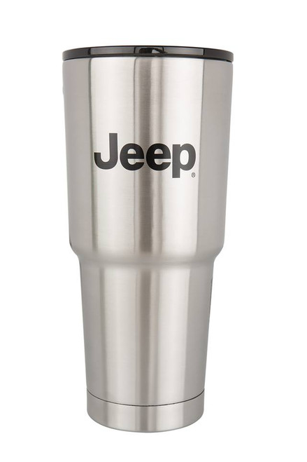4x4 Attitude Cup Tumbler Thermo 32oz JEEP LICENSED Etched Logo - Brushed Stainless Steel