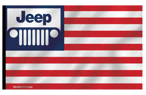 USA Jeep Flag