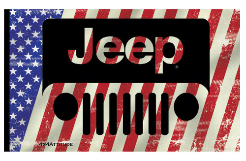 USA Jeep Stripe Flag