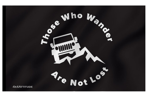 Those-Who-Wander are Not Lost Flag