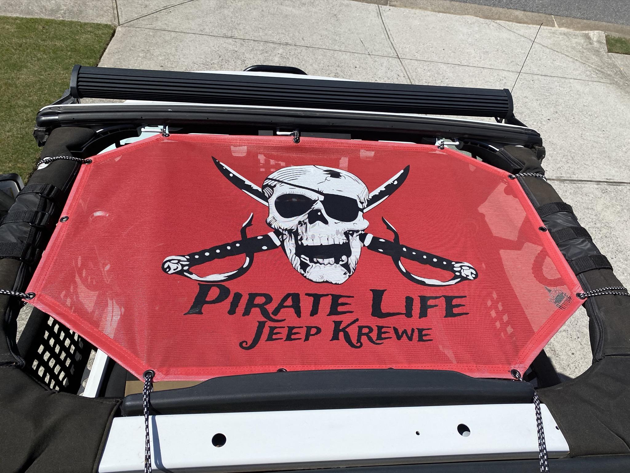 Pirate Life Jeep Krewe Sunshade