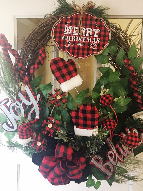 Red Buffalo Plaid Wreath
