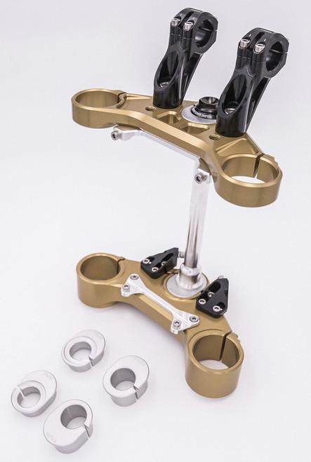 Roland Sands Design Adjustable Billet Aluminum Triple Clamps for Indian FTR 1200