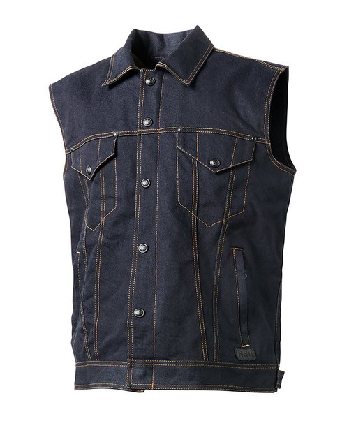 Roland Sands Design Tech Denim Vest SAMPLE SIZE LG ONLY