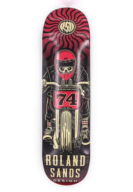 Roland Sands Design Skull Rider Skateboard Deck
