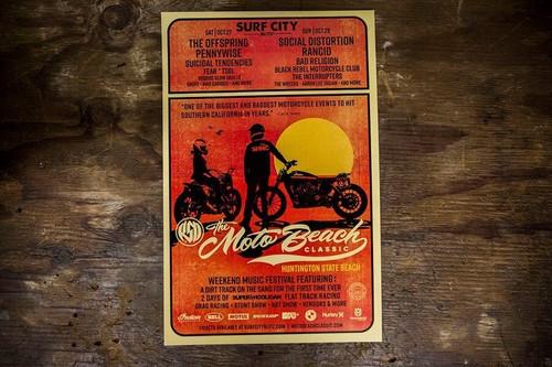 Roland Sands Design 2018 SHNC Round 10 Moto Beach Classic Poster