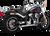 Slant Slip-On Exhaust for M8 Harley Softail Chrome