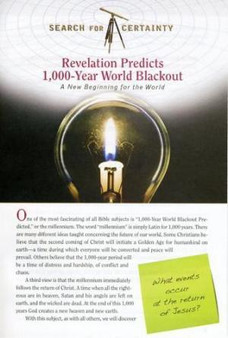 Search For Certainty #29 - Revelation Predicts 1,000-Year World Blackout