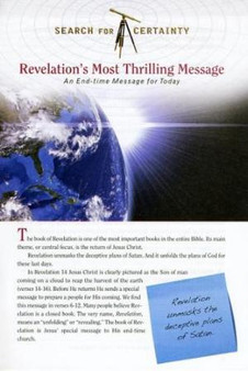 Search For Certainty #8 - Revelation's Most Thrilling Message