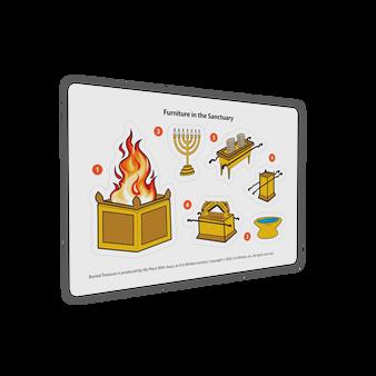 "Buried Treasure Sanctuary Furniture Sticker Sheet (6' x 4"")"