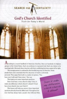 Search For Certainty #21 - God's Church Identified