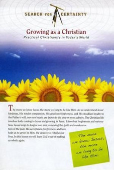 Search For Certainty #20 - Growing as a Christian