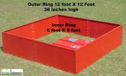 Turf-Tec Infiltration Rings 5 & 12 foot diameter - ASTM 5093