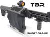 AR platform SHORT FRAME-THROW LEVER MOUNT brass catcher